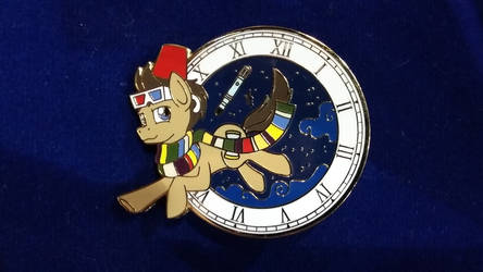 Doctor Whooves Time Travel Pin