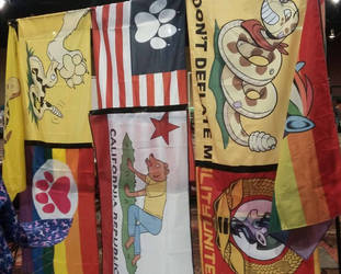 Flag Display at BLFC 2018 Booth by SouthParkTaoist
