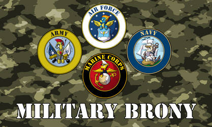 Military Brony Flag by SouthParkTaoist