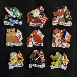 State Animal Pin Series