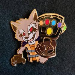 Rocket Raccoon Infinity Gauntlet Pin