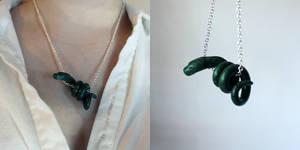 Slytherin Snake Necklace