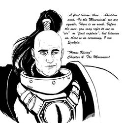 Horus Rising. Ezekyle Abaddon (chapter 4) by marinaizarne