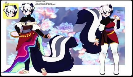 Sonic-sona: Eloise Skunk bio/ref by MonstrousLupus