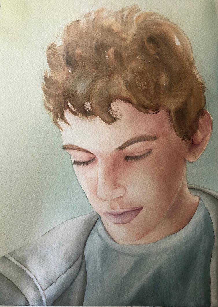 Young Boy by aalcalinaa