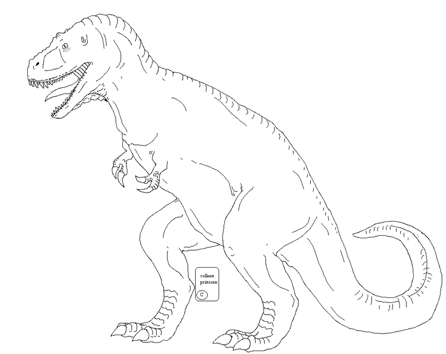 inaccurate t rex template by Kuwaizair on DeviantArt