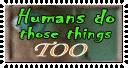 human behavior stamp by Kuwaizair