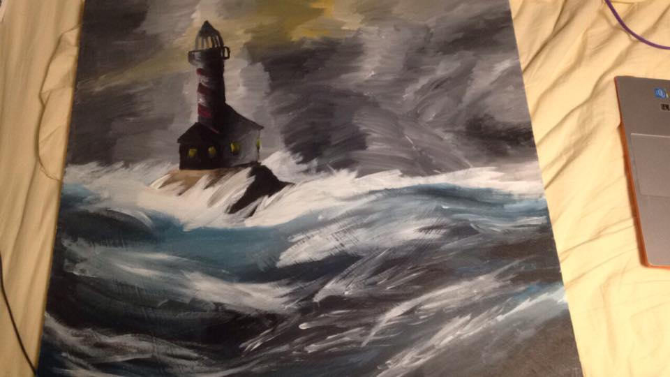 Lighthouse on a Stormy Sea