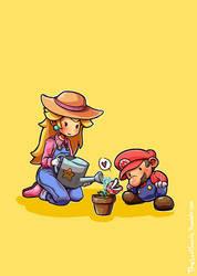 Mario - Gardener Peach by LostInSweden