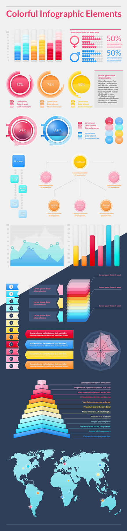 Colorful Infographic Elements by magdadymanska