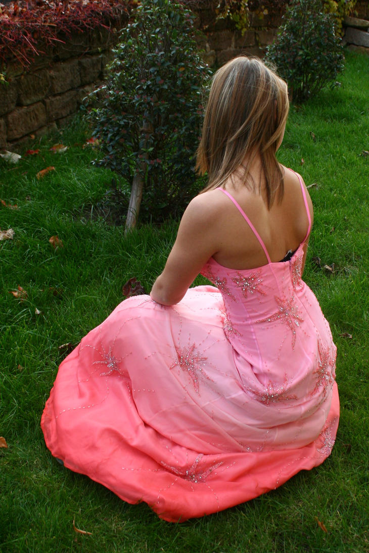 Pink dress stock 25 by Malleni-Stock