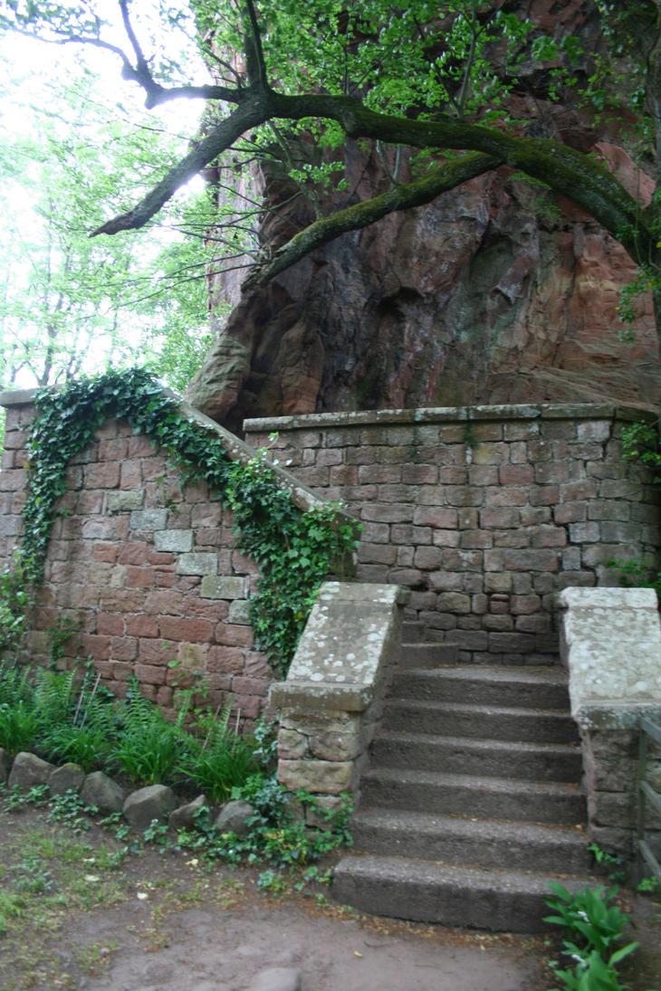Berwartstein Castle Stock 36 by Malleni-Stock