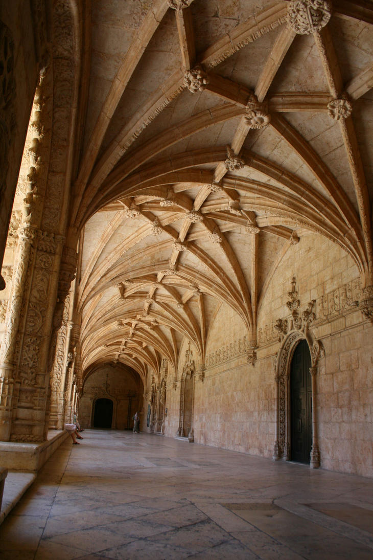 Lisbon Monastery Stock 11 by Malleni-Stock
