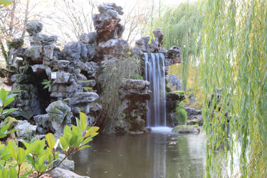 Chinese garden Stock 03 by Malleni-Stock