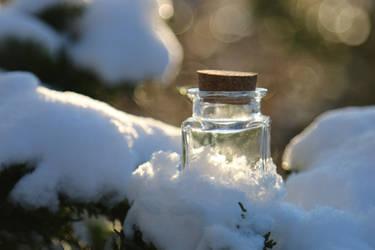 Snow bottle Stock 08 by Malleni-Stock