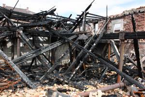 Fire ruin Stock 06 by Malleni-Stock