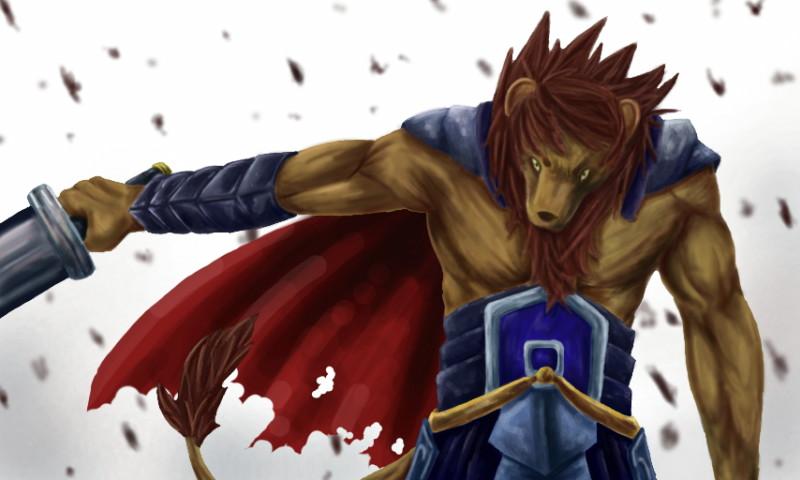 Deviantart Lion Warrior: Lion Warrior By Chibikoma On DeviantArt