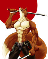 Fox Warrior by Chibikoma