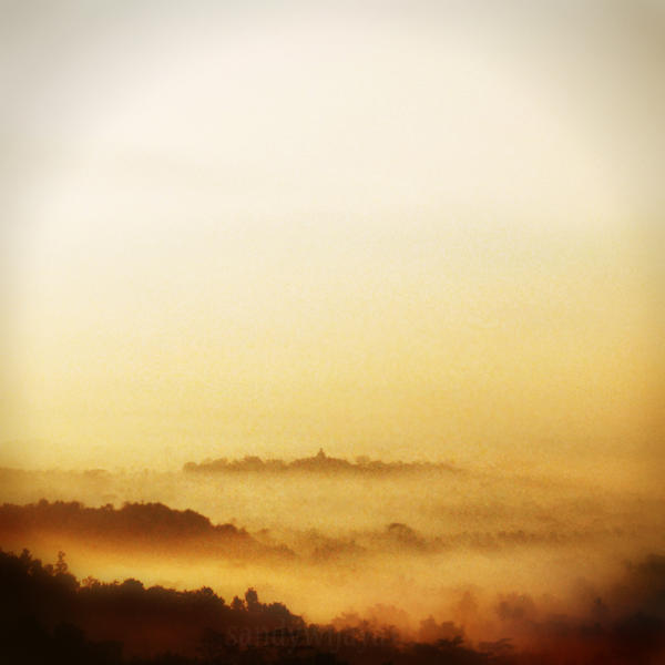 Borobudur From a Distance 3 by thesaintdevil