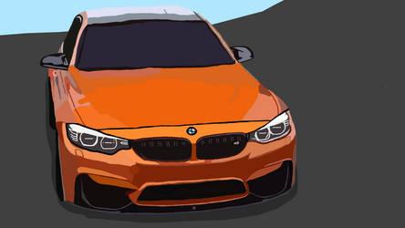 BMW M3 (F80) by mannydrawscomics