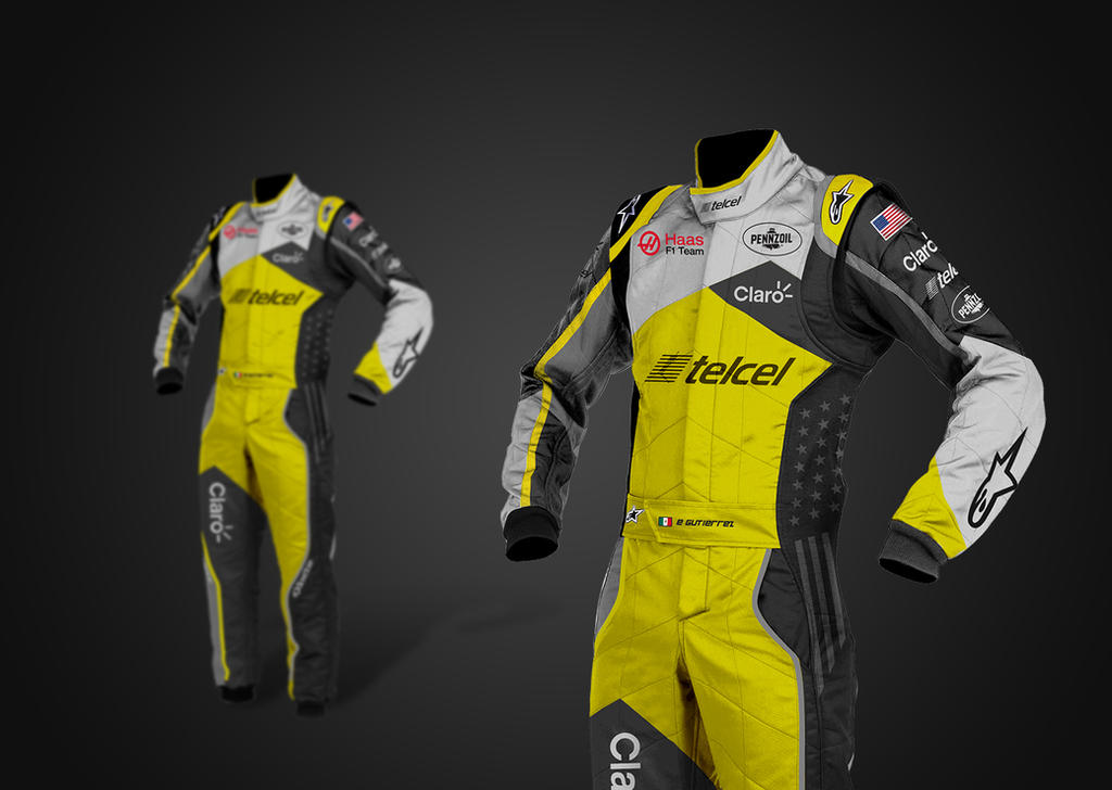 2016 Haas F1 Ferrari Alpinestar Suit by andwerndesign