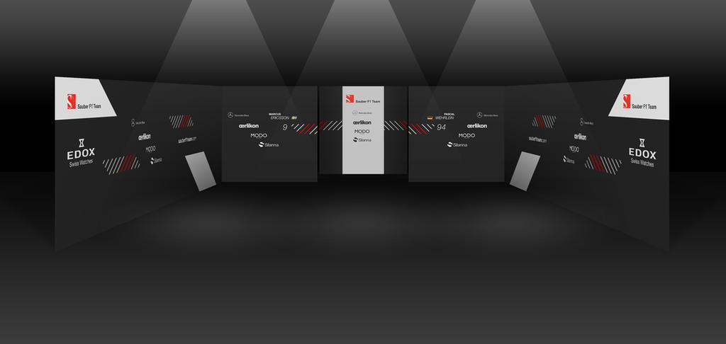 2017 Sauber Mercedes F1 Garage by andwerndesign