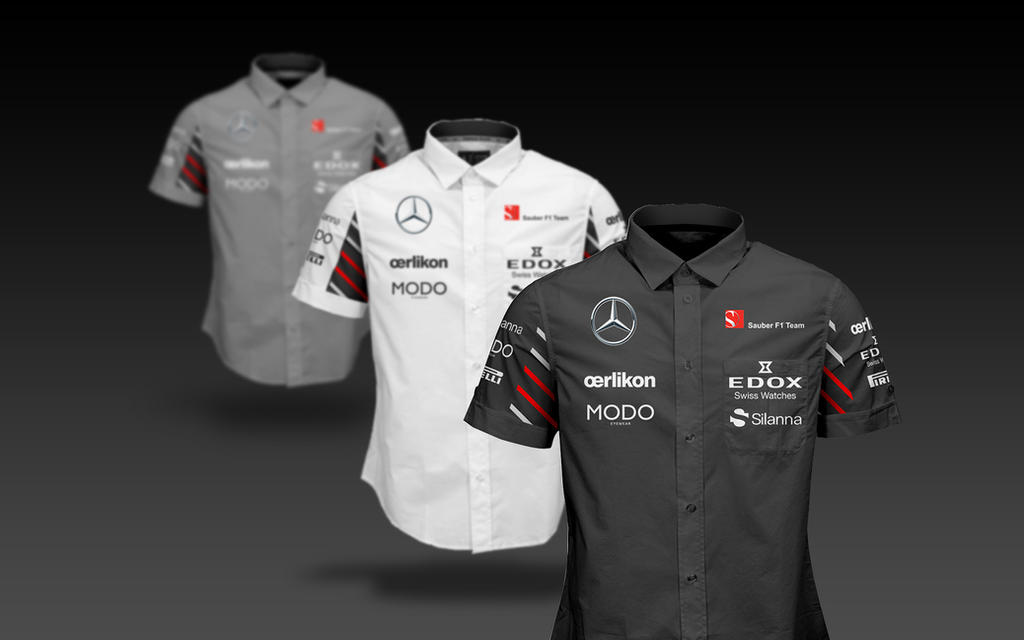 2017 Sauber Mercedes F1 Shirts by andwerndesign