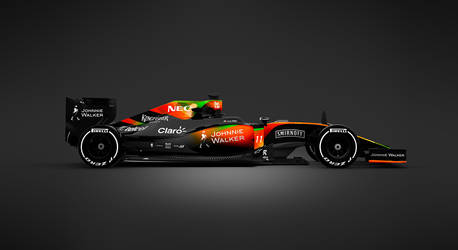 2017 Sahara Force India F1 Side