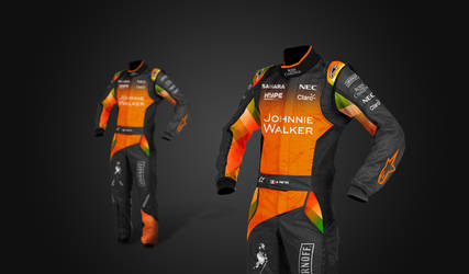 2017 Sahara Force India F1 Suits by andwerndesign