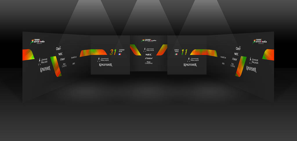 2017 Sahara Force India F1 Garage by andwerndesign