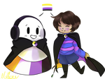 Non-Binary pals (Undertale)