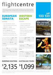 Travel Flyer using Metro Design Guidelines