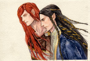Maedhros and Fingon by daLomacchi