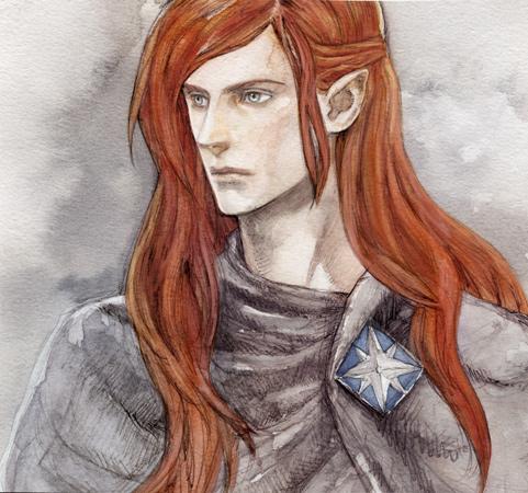 Maedhros Portrait by daLomacchi