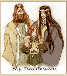 Maitimo and Grandfathers by daLomacchi