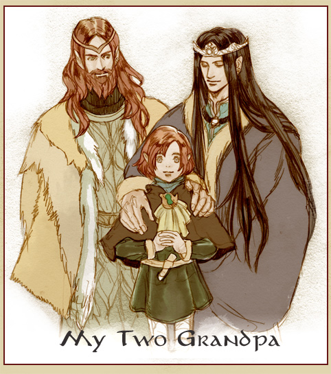 Maitimo and Grandfathers by daLomacchi