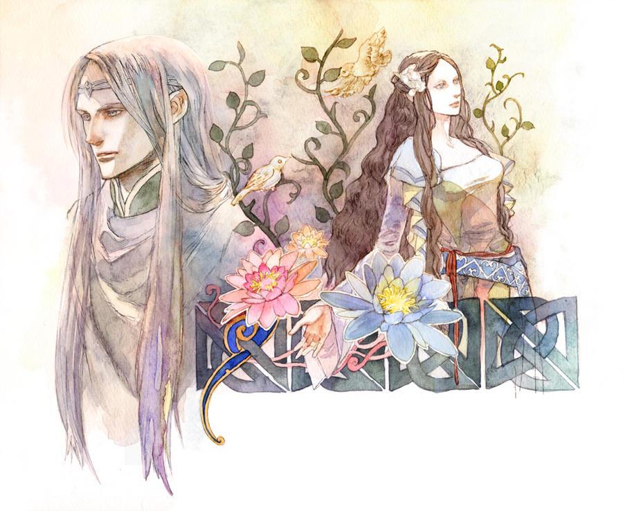 Elwe and Melian by daLomacchi