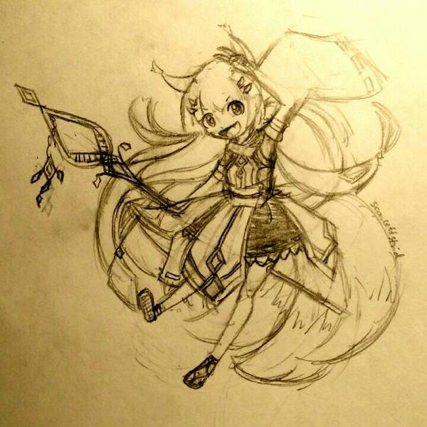 kitsune by scarlettstrid