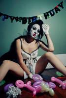 sad clown by HannahCombs