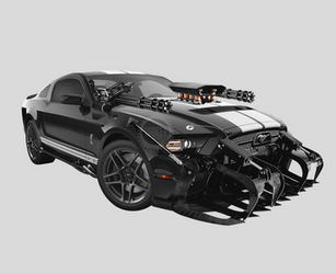 Vader Mustang by MonsterGrafix