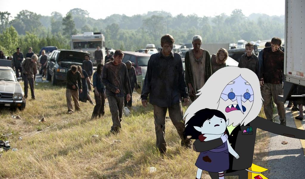 Adventure Time Walking Dead Ice King And Marceline By OgoRoman