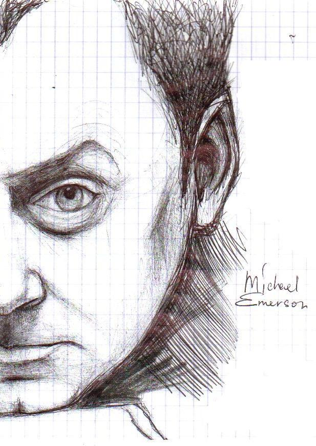 Michael Emerson half portrait by GalacticSun