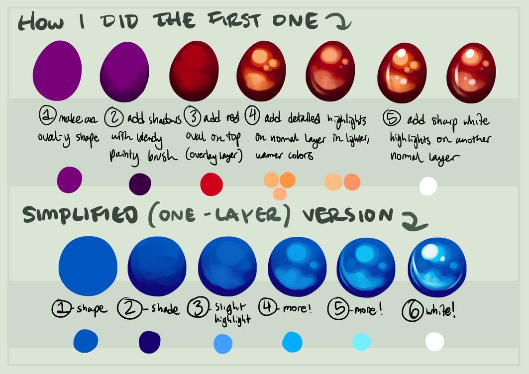 Simple Gem Coloring Tutorial by orb-art on DeviantArt