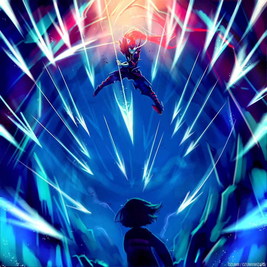 Battle against a true hero by Ozumii