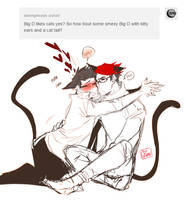 cats Google and big d by Ozumii