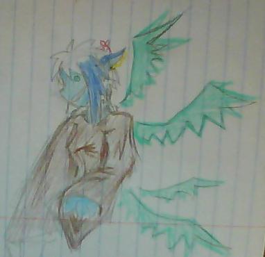 Blue doodle by Sadie-Dkirin
