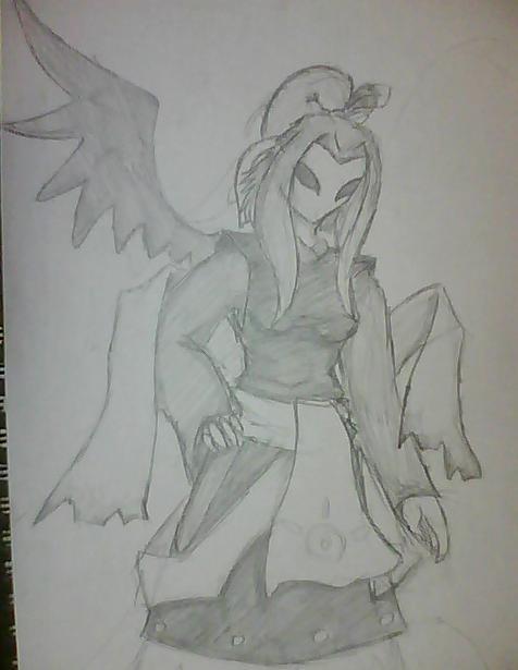 Tsubaki -Pencil sketch- by Sadie-Dkirin