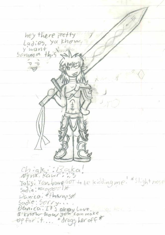 Kuro - Humanoid form by Sadie-Dkirin