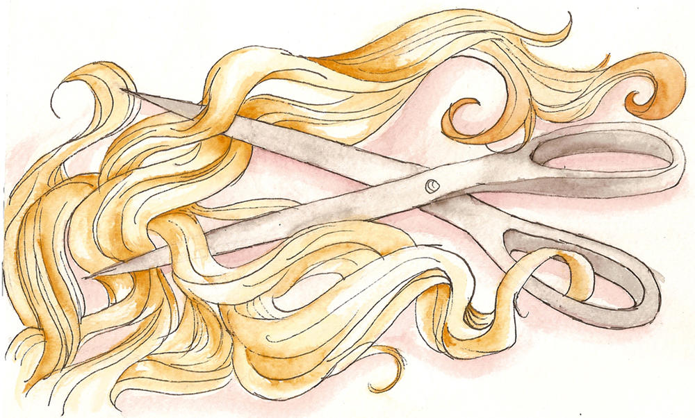 Hair cutting scissors drawing
