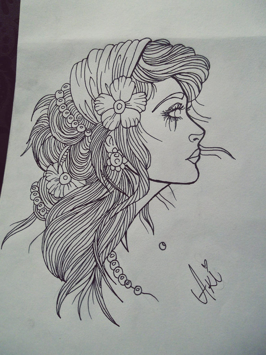 Tattoo Sketching Tattoo Sketch Girl by